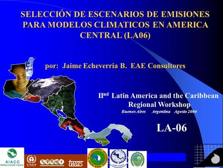 Assessment of Impacts and Adaptation Measures for the Water Resources Sector Due to Extreme Events Under Climate Change Conditions in Central America.