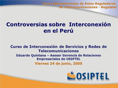 Click to edit Master title style Click to edit Master text styles Second level Third level –Fourth level »Fifth level Curso de Interconexión de Servicios.