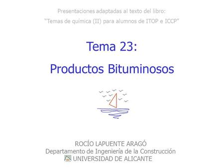 Productos Bituminosos