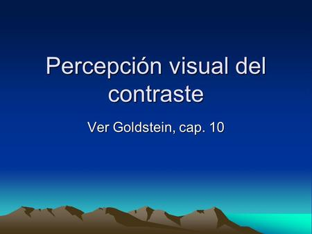 Percepción visual del contraste