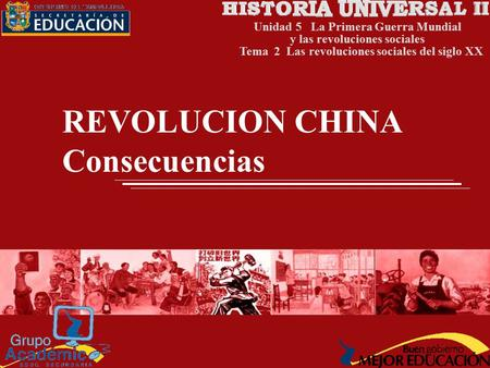 REVOLUCION CHINA Consecuencias