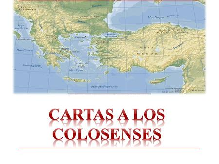 Cartas a los colosenses