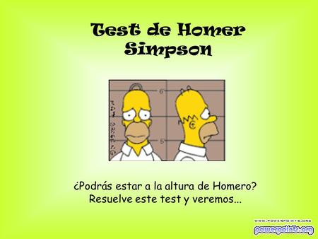 Test de Homer Simpson ¿Podrás estar a la altura de Homero?