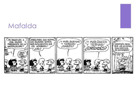 Mafalda. Vocabulario de lo político To donate -  Donar.