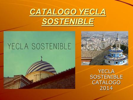 CATALOGO YECLA SOSTENIBLE
