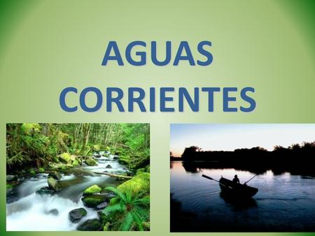 AGUAS CORRIENTES.