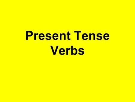 Present Tense Verbs. Infinitive: The verb form listed in the dictionary. In English, the infinitive usually include to: hablar- to talk / trabajar – to.