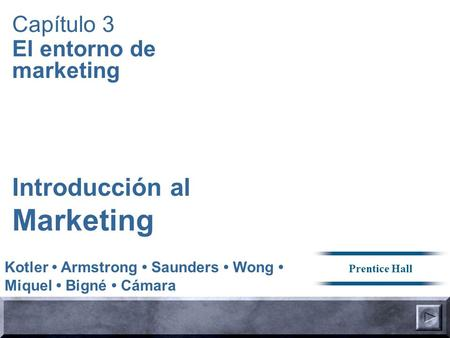 Marketing Introducción al Capítulo 3 El entorno de marketing