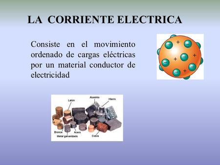 LA CORRIENTE ELECTRICA