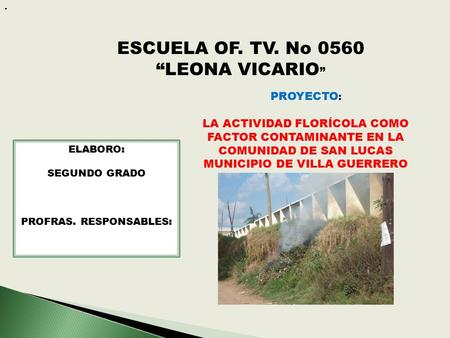 "ESCUELA OF. TV. No 0560 ""LEONA VICARIO"""