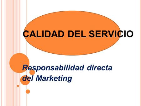 Responsabilidad directa del Marketing