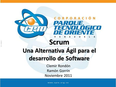 Scrum Una Alternativa Ágil para el desarrollo de Software