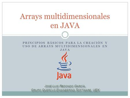 Arrays multidimensionales en JAVA