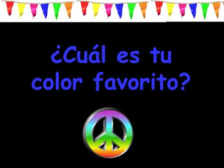 ¿Cuál es tu color favorito?