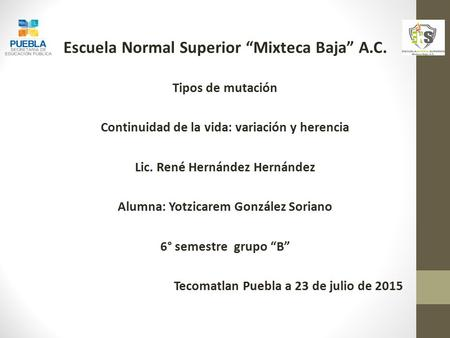 "Escuela Normal Superior ""Mixteca Baja"" A.C."