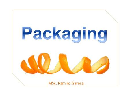 Packaging MSc. Ramiro Gareca.