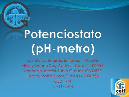 Potenciostato (pH-metro)