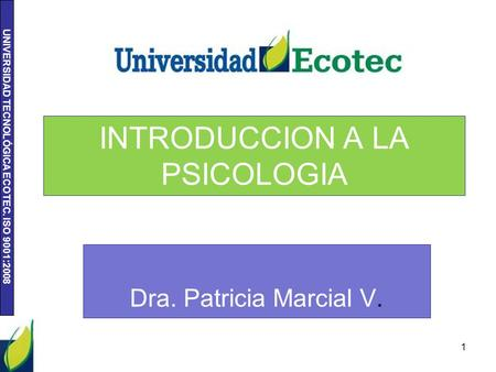 INTRODUCCION A LA PSICOLOGIA