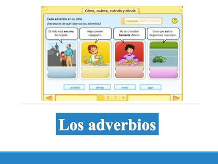 Los adverbios.