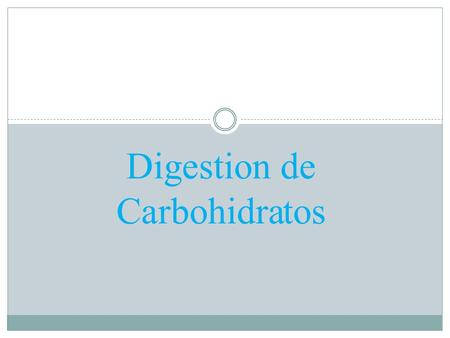 Digestion de Carbohidratos.