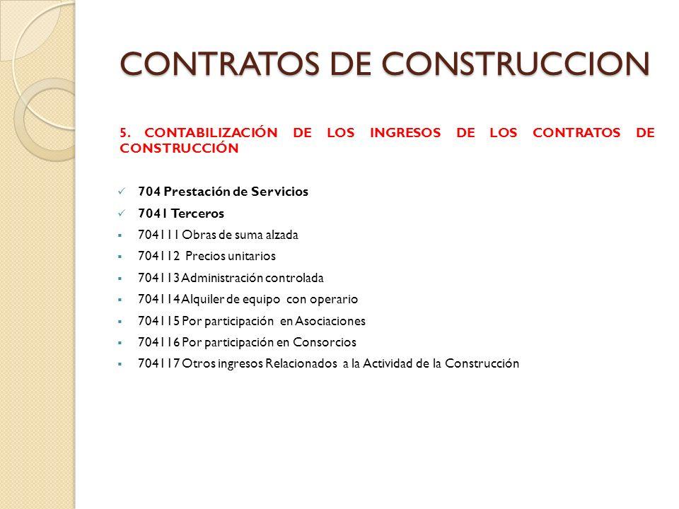 CONTRATOS DE CONSTRUCCION 6.