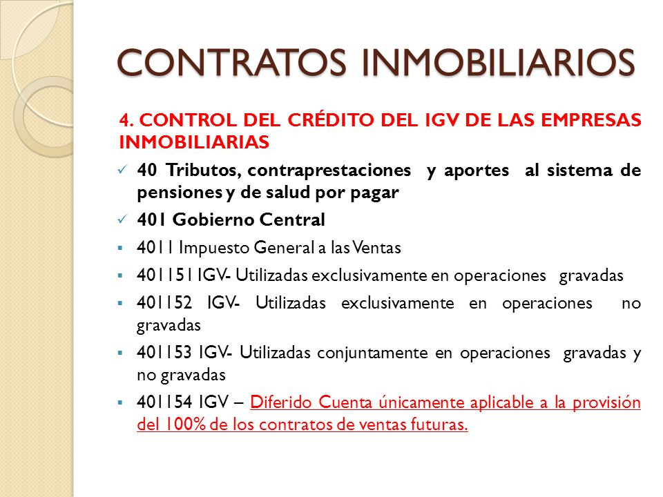 CONTRATOS INMOBILIARIOS 5.