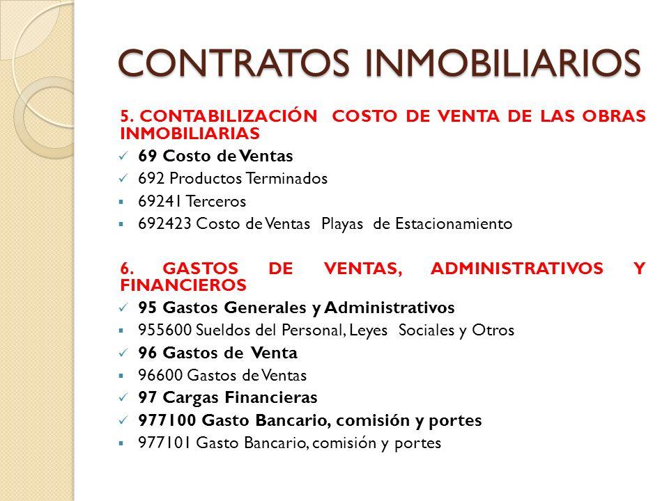 CONTRATOS INMOBILIARIOS 7.
