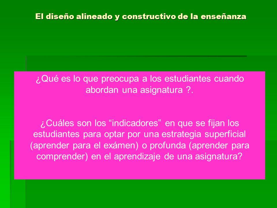 El diseño alineado y constructivo de la enseñanza 1.