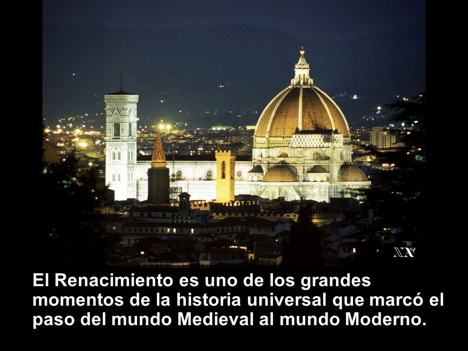 Se conoce como Renacimiento al movimiento de revitalización que se produjo en Europa Occidental entre los siglos XV y XVI.