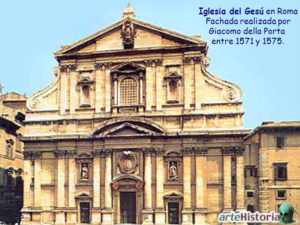 Iglesia construida en cruz latina por Vignola en 1568 para alojar los restos de San Ignacio de Loyola.