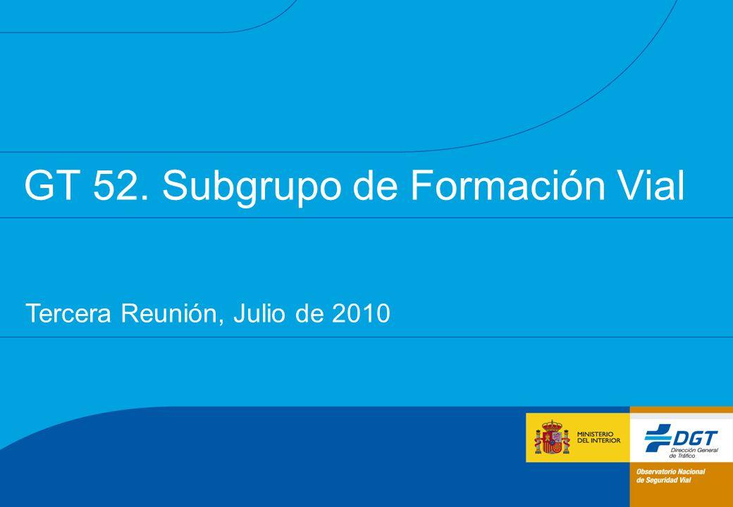 2 Conclusiones y próximos pasos de la reunión del Subgrupo del 8 de abril de 2010 Presentación de soporte utilizada durante esa misma reunión Contenidos