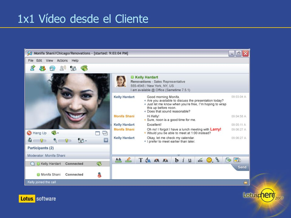 16 Integración de Lotus Sametime con Microsoft Office y Outlook Microsoft Outlook (Office XP o superior) Control de presencia, mensajería instantánea, VoIP, etc.