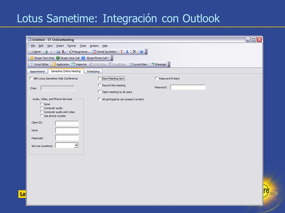 19 Lotus Sametime: Integración con Office - SmartTag