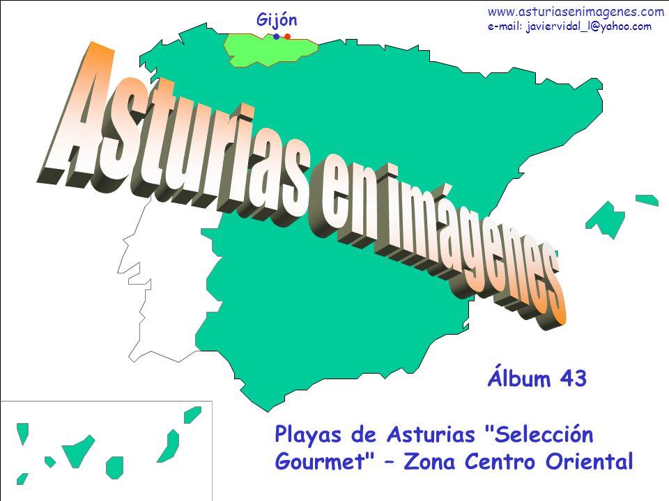 2 Asturias - Álbum 43 Fotografías: Javier Vidal http: asturiasenimagenes.com La Playa de Toranda esta a 300 metros de la aldea llanisca de Niembro, Bandera Azul 2008.