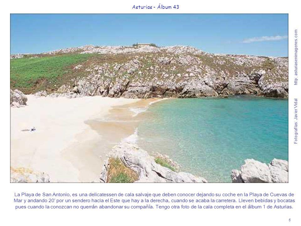 7 Asturias - Álbum 43 Fotografías: Javier Vidal http: asturiasenimagenes.com La Playa de Guadamia o Aguadamía.