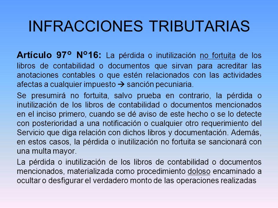 INFRACCIONES TRIBUTARIAS o a burlar el impuesto, será sancionada conforme a lo dispuesto en el inciso primero del N° 4° del artículo 97 del Código Tributario.