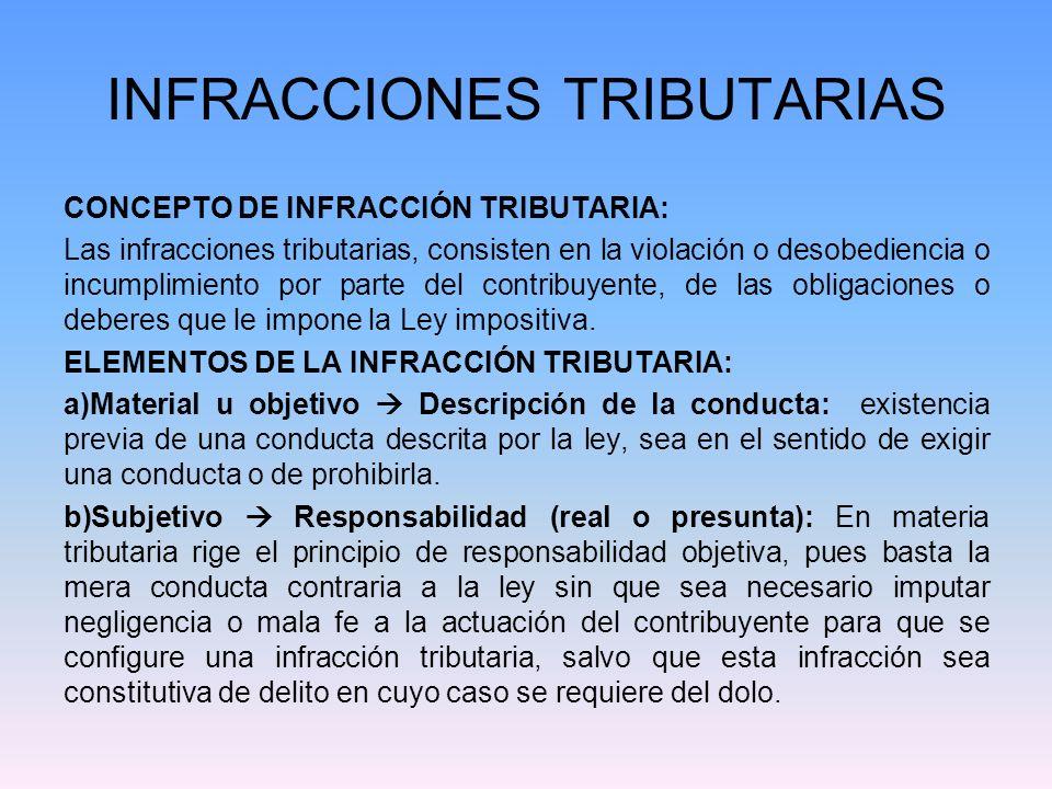 INFRACCIONES TRIBUTARIAS c) Coercitivo: Existencia de las medidas desmotivadoras destinadas a refrenar una conducta contravencional.