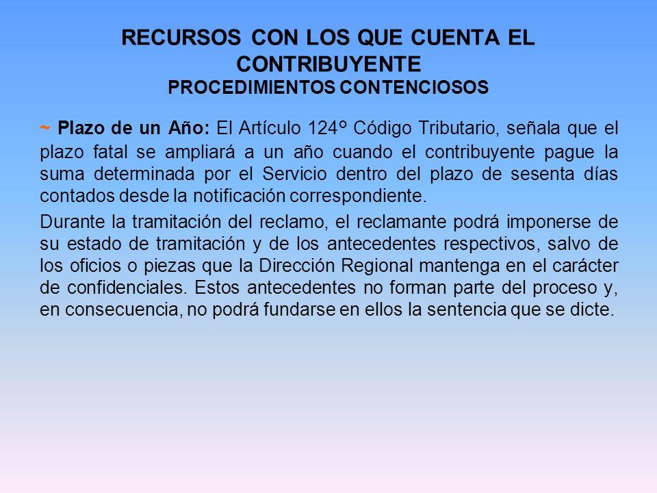 RECURSOS CON LOS QUE CUENTA EL CONTRIBUYENTE PROCEDIMIENTOS CONTENCIOSOS g.