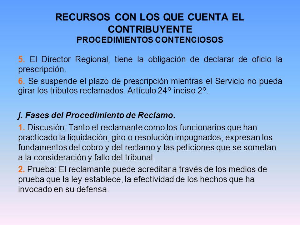 RECURSOS CON LOS QUE CUENTA EL CONTRIBUYENTE PROCEDIMIENTOS CONTENCIOSOS 3.