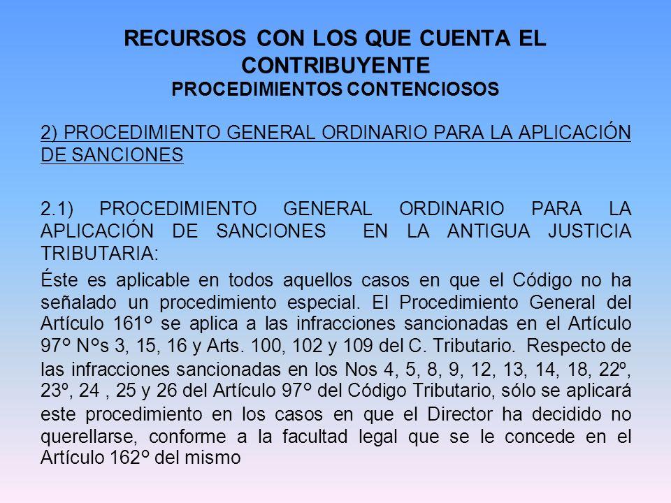RECURSOS CON LOS QUE CUENTA EL CONTRIBUYENTE PROCEDIMIENTOS CONTENCIOSOS texto legal.