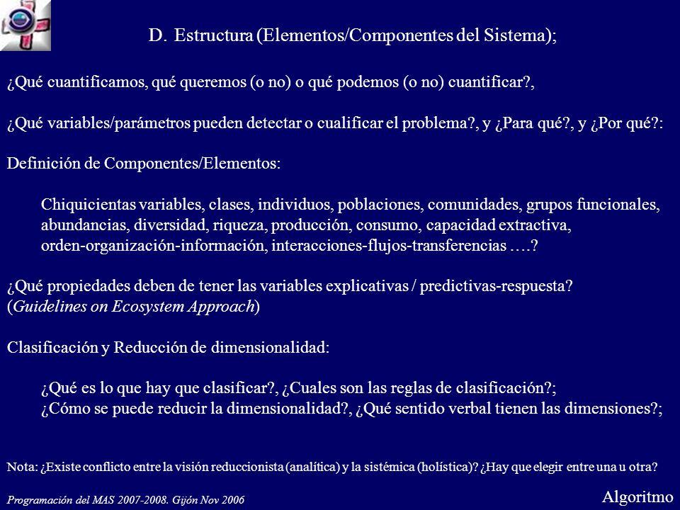 Complejidad medida a través de componentes (meta-agregación de variables evidentes) a través de una nueva aproximación o lenguaje.