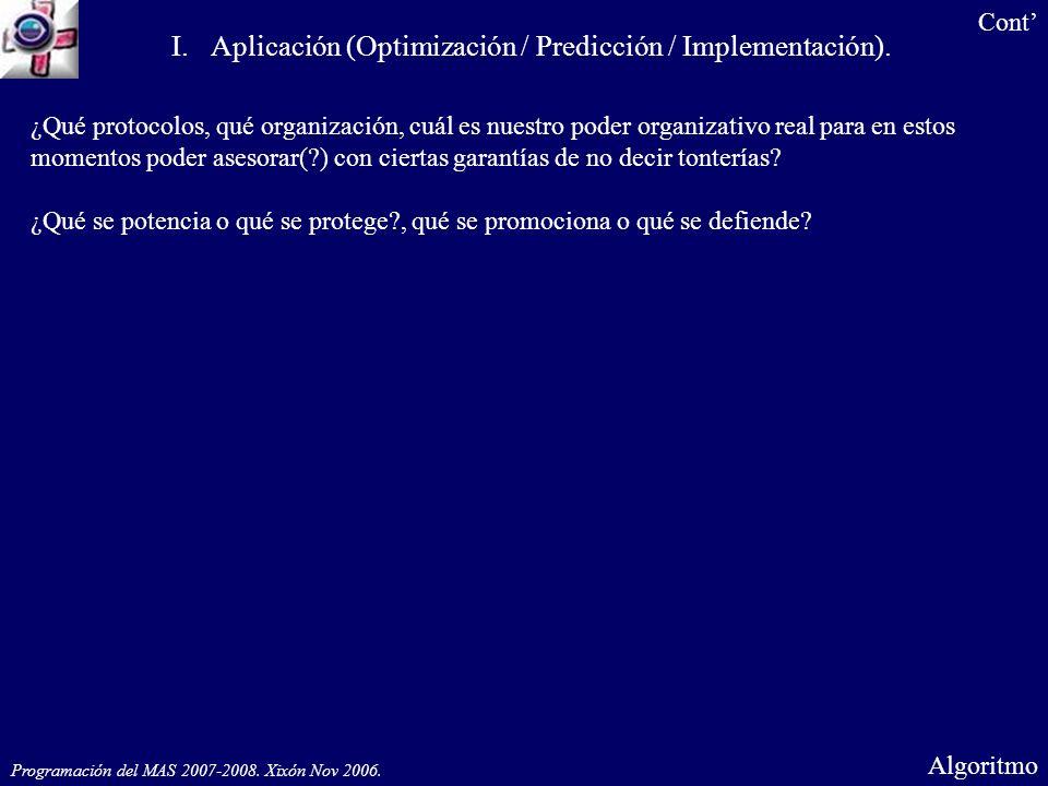 Programación del MAS 2007-2008. Gijón Nov 2006