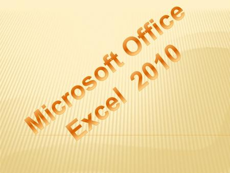 Microsoft Office Excel 2010.