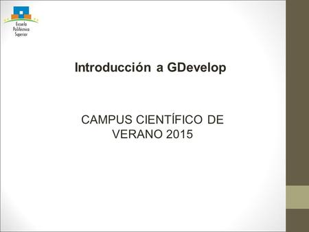 Introducción a GDevelop
