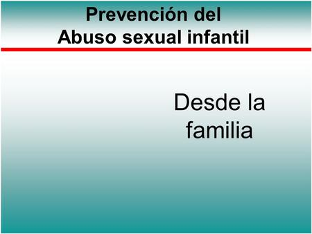 Prevención del Abuso sexual infantil