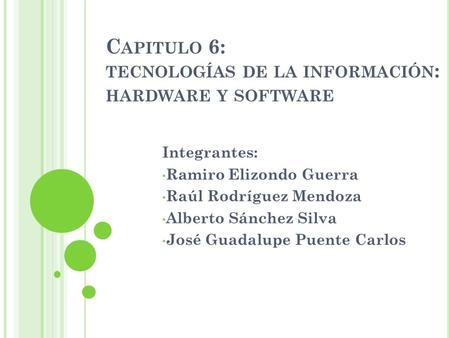 Tecnologías de información: Hardware y Software - ppt ... - photo#41