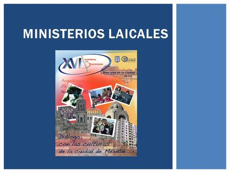 MINISTERIOS LAICALES.