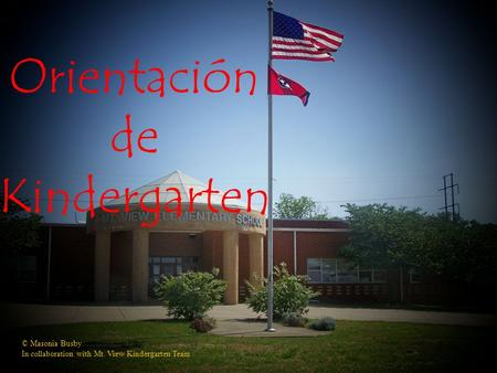 Orientación de Kindergarten © Masonia Busby In collaboration with Mt. View Kindergarten Team.
