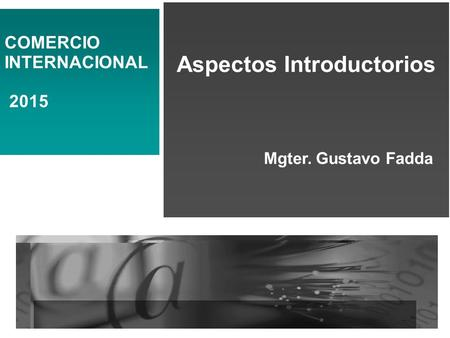 Aspectos Introductorios