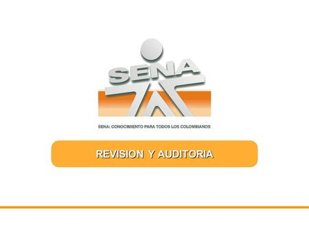 REVISION Y AUDITORIA.